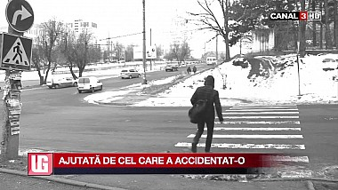 Ajutată de cel care a accidentat-o