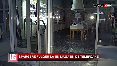 Spargere fulger la un magazin de telefoane