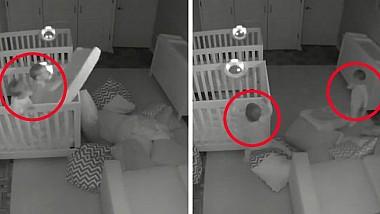 Gemenii fără somn. Ce au descoperit părinţii, după ce au instalat în camera micuţilor un sistem de supraveghere video