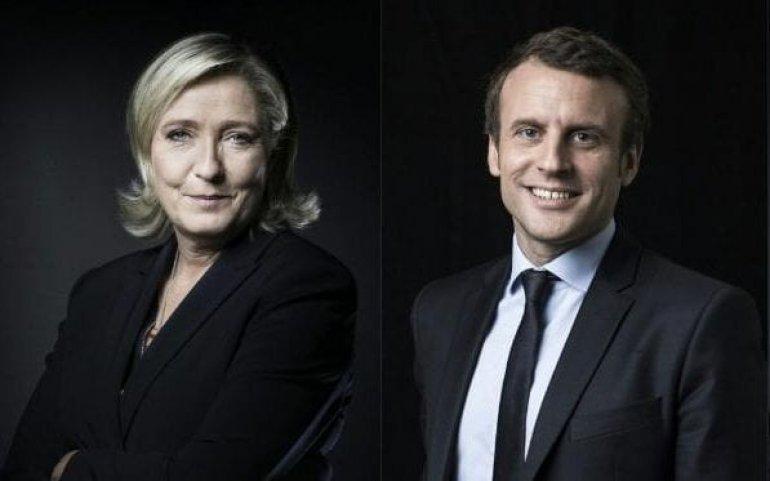 Scrutin istoric în Franţa. Emmanuel Macron și Marine Le Pen se vor bate pe 7 mai pentru fotoliul de preşedinte