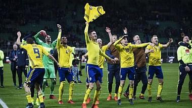 Fotbaliştii suedezii au înnebunit de fericire