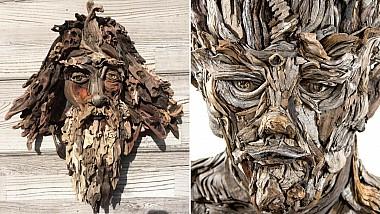Cele mai inedite sculpturi din lemn