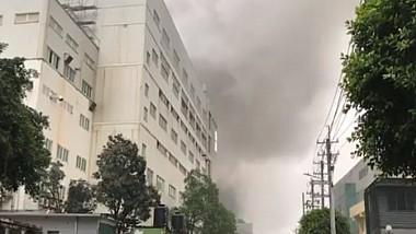 Un incendiu devastator a cuprins o fabrică de produse chimice din Taiwan