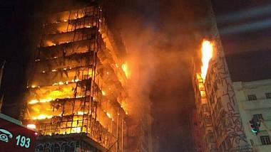 Incendiu devastator în oraşul brazilian Sao Paulo