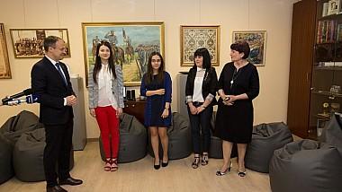 Четыре лучших студента Бельцкого Госуниверситета имени Алеку Руссо получили почетные стипендии от председателя парламента Андриана Канду