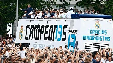 Madridul, în sărbătoare după ce Real a câştigat al 13-lea trofeu al Ligii Campionilor