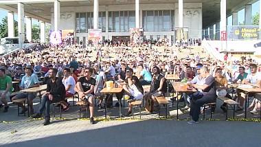 В центре Кишинева обустроили городок для болельщиков с гигантским экраном