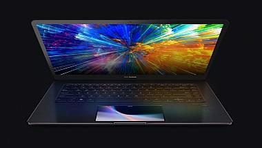Noul model ZenBook Pro, echipat cu un al doilea ecran tactil, instalat în locul touchpad-ului