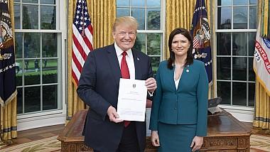 Cristina Balan, la Casa Albă. Ambasadorul a prezentat scrisorile de acreditare președintelui Statelor Unite ale Americii, Donald J. Trump