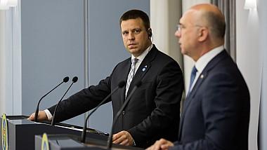 Premierul Estoniei, la Chişinău: Republica Moldova este şi va rămâne o țară prioritară pentru Estonia din punct de vedere al cooperării pentru dezvoltare