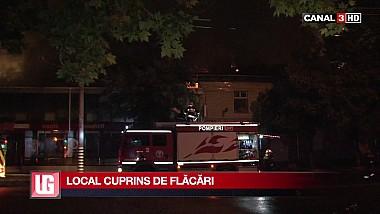 Noapte grea pentru pompieri. Un incendiu puternic s-a produs într-o cafenea din sectorul Buiucani al Capitalei