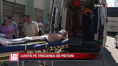 O tânără de 19 ani a fost lovită de un taximetrist pe trecerea de pietoni