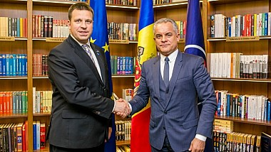 Întâlnirea premierului estonian, Jüri Ratas cu liderul Partidului Democrat din Moldova, Vlad Plahotniuc