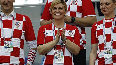 Președinta microbistă. Kolinda Grabar-Kitarovic afirmă cu încredere că naționala ţării sale va câștiga Campionatul Mondial de Fotbal din Rusia