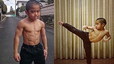 Micul Bruce Lee. Un puști de opt ani din Japonia imită la perfecție tehnicile și viteza de mişcare a actorului american