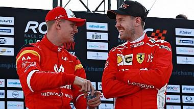 Sebastian Vettel a făcut echipă cu Mick Schumacher, la Cursa Campionilor