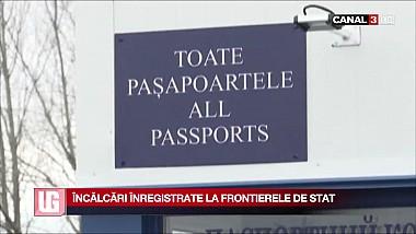 Încălcări înregistrate la frontierile de stat